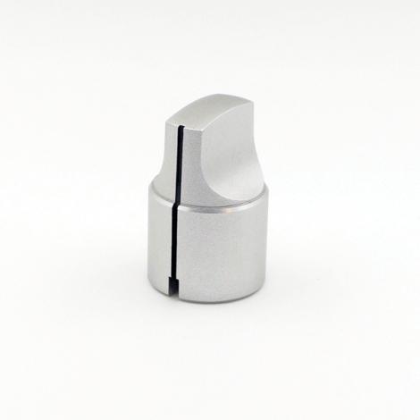 Metal Knob - Elongated Pointer (Silver)