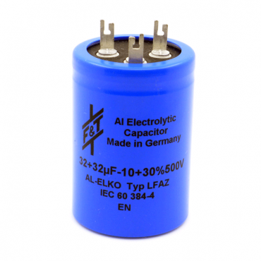 F&T Series LFAZ Dual Section Radial Capacitors Solder Terminals (500V)