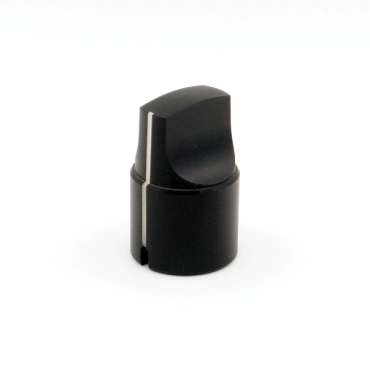 Metal Knob - Elongated Pointer (Black)