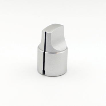 Metal Knob - Elongated Pointer (Silver)